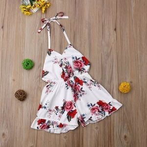 Last One 2T Girls Floral Romper